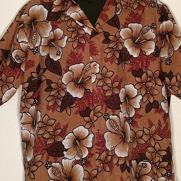 3378b2bfc70914 Seawind Shirts | Hawaiian Camp Shirt Brown Floral Print 2xl | Poshmark